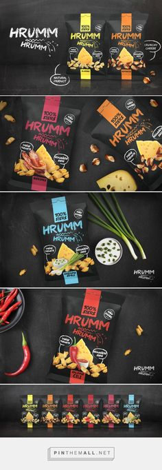 Hrumm Hrumm, Crunchy Cheese on Packaging of the World - Creative Package Design Gallery... - a grouped images picture - Pin Them All