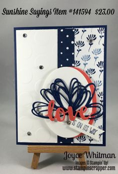 A great card using Sunshine Sayings stamp set from Stampin' Up for any occasion including birthday, Valentine's Day, anniversary, etc.