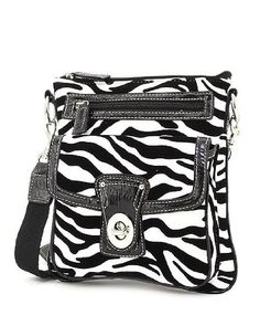 Zebra Print Cross Body Hipster Handbag (White & Black) Handbag Incorporated Online Shopping to see or buy click on Amazon here http://www.amazon.com/dp/B0082CB7I2/ref=cm_sw_r_pi_dp_Az9Ltb1H48DFJEP5