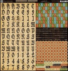 Olde Curiosity Shoppe Alphabet Stickers! #graphic45 #CHA #newcollection
