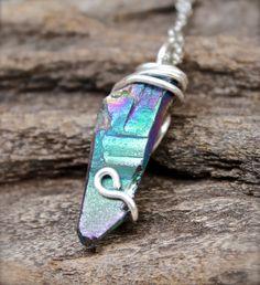 Hippie Jewelry  Rainbow Crystal Necklace  by MermaidTearsDesigns, $27.00
