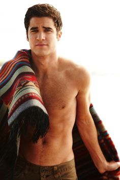WHOA.  darren criss aka blaine from glee shirtless and staring into my soul.  please sing me to sleep forever