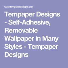 Tempaper Designs - Self-Adhesive, Removable Wallpaper in Many Styles - Tempaper Designs