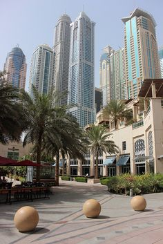 Dubai Marina by PlannedCity, via Flickr. The similarity of the colors, the cleanness and newness - some photos of Dubai make the place seem very surreal!