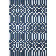 Momeni Baja Navy Indoor/Outdoor Area Rug | AllModern