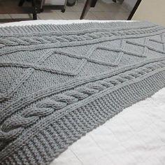 Manta Crochet, Knit Crochet, Owl Blanket, Cama Queen, Bed Scarf, Bed Runner, Knitting, Pattern, Crafts