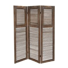 Classy Styled Wood 3 Panel Screen Panel Room Dividerroom