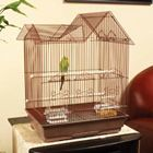Petco Designer Brown Ranch Style Top Parakeet Cage