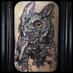 Owl Tattoo by Craig Goss