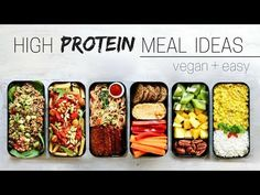 HIGH PROTEIN VEGAN MEAL IDEAS » bento box - YouTube