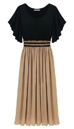 Ruffles Short Sleeve Bandeau Chiffon Dress