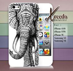 #iphone #case #cover #protector #iphone_case #plastic #design #custom #funny #cute #Ornate_Elephant