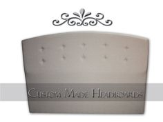 Elegant Tiffany Upholstered Headboard in Premium Linen    Bring this elegant piece of artwork home with you and beautify your bed room!    The