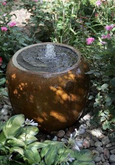 bubbling pot water feature