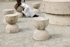 Photo about Man sitting at the Table of Silence, the famous expressionist sculpture by Constantin Brancusi. In Targu Jiu, Romania. Image of masa, modernist, artist - 60778754 Constantin Brancusi, Man Sitting, Modern Sculpture, Romania, Travel Destinations, Europe, Table, Image, Road Trip Destinations