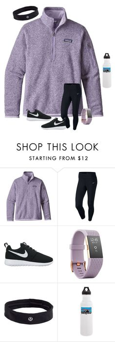 """""we must think big, and we must dream even bigger"" "" by preppinessandpearls ❤ liked on Polyvore featuring Patagonia, NIKE, Fitbit and lululemon"