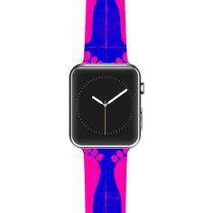 "Sreetama Ray ""Footprints Purple"" Pink Blue Apple Watch Strap"