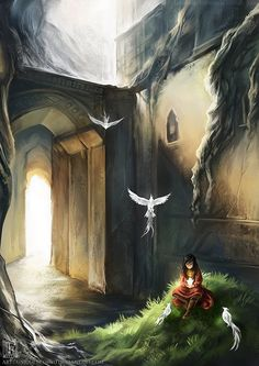 Though invisible to others, her friends could be felt by everyone. They were her creations; Creative Fantasy Illustrations by uniqueLegend My Fantasy World, Fantasy Art, Mystique, Fantasy Setting, Fantasy Illustration, Fantasy Landscape, Illustrations, Beautiful Artwork, Digital Art