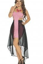 Vestido strapless con cola | CARMEL - Ropa por catálogo para mujeres y teens