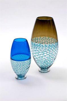Bob Crooks – Lattice Vases, verre soufflé