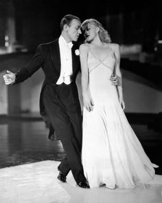 Ginger Rogers and Fred Astaire in Swing Time. The set and the dress, everything is perfect in this dance. my fav dance sequence of all time between fred and ginger. Ginger Rogers toes were bleeding they practice so much, but all you is pure cinema dream