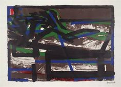 Reclining Figure II - Frank Auerbach - Expressionism