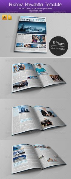 Business Newsletter - Newsletters Print Templates Download here : http://graphicriver.net/item/business-newsletter/3457201?s_rank=357&ref=Al-fatih