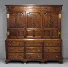 Georgian Oak House Keepers Cupboard. - Antiques Atlas