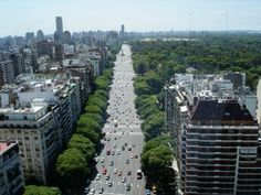 An aerial view of the beautiful Buenos Aires