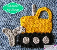 Boys Will Be Boys Blanket Bulldozer Applique