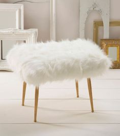 How To Make A Fur Stool. (Faux fur, obviously! I wouldn't have it any other way.)