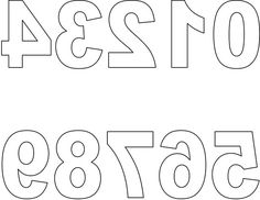 Letters and Numbers for Tracing | Free Reversed Block Letters for Printing Scrapbook Page Titles