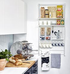 A tidy storage solution from elfa to neaten up any kitchen.