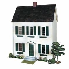 Real Good Toys QuickBuild Classic Colonial Dollhouse Kit  - 1 Inch Scale  Visit us: missdollhouse.com #dollhouses