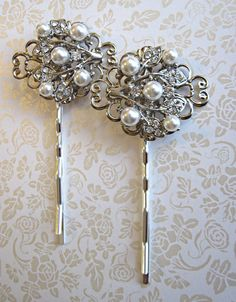 Wedding Hair Pins- Ivory Pearl Hair Accessories GET LISTED TODAY! http://www.HairnewsNetwork.com  Hair News Network. All Hair. All The time.