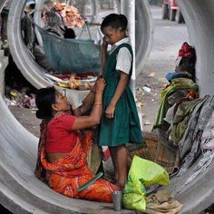 Lets salute this mother who knows the value of education.