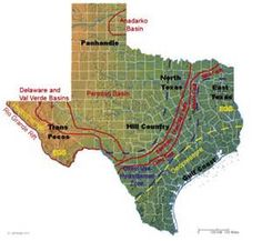 Texas Fault Line Map