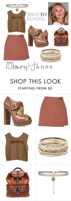 """""""MaryJane"""" by breestreet ❤ liked on Polyvore featuring Michael Kors, Theory, Kendra Scott, Will Leather Goods and New Look"""
