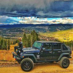 Black Jeep Wrangler Rubicon Fuel Wheels mickey Thompson rough country Breckenridge Colorado