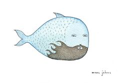 fish with flame beard by Marc Johns, via Flickr