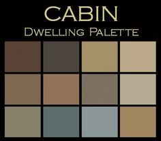 The Cabin Paint Color Palette™:  warm & cozy.      Your own color consultation:  twelve Benjamin Moore Paint Colors for only $25.