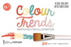 Check out Colour Trends Retro Swatches Vol1 by pixelbypixel on Creative Market