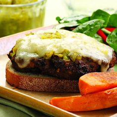 This diner classic gets a makeover by replacing some of the ground beef with finely chopped portobello mushrooms, which add moisture and flavor. We like a smear of pickle relish on top, but you could try chutney, mustard or hot pepper relish in its place.