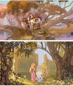 Artes do filme Enchanted, por Lisa Keene   THECAB - The Concept Art Blog
