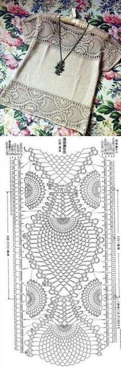 Ganchillo + tela.  (ideas de Internet) / ganchillo / la ropa del gancho de la…
