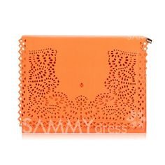 $8.64 Career Women's Clutch With Openwork and Lacework Design