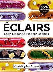 Eclairs: Easy Elegant & Modern Recipes  By Christophe Adam  We were sent a review copy of Eclairs: Easy Elegant & Modern Recipes written by Christophe Adam without charge for the purpose of writing this review.  Eclairs: Easy Elegant & Modern Recipes is a wonderful book. It is really a simple step-by-step course in how to make eclairs.   The instructions are wonderful and very easy to follow. If you have trouble following written instructions no problem. There are pictures to take you…