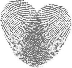An idea for a tattoo on my hip... his and mine fingerprints making a heart