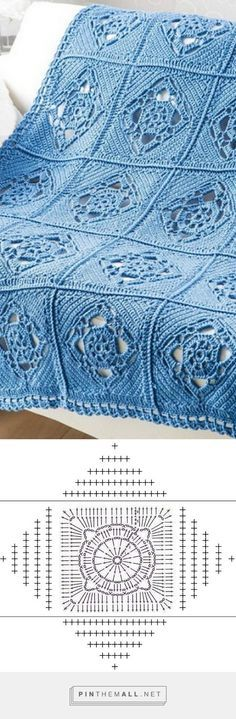 CHART - Pretty Openwork Motif - Free Crochet Diagram - (woman7)