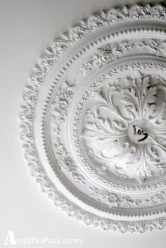 French Living Rooms, My Living Room, Tin Ceiling Tiles, Hallway Ceiling, Glass Ceiling, Ceiling Rose, Love Your Home, Ceiling Medallions, Ceiling Design